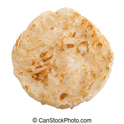 Roti Canai is famous Malaysian food, full length isolated on...