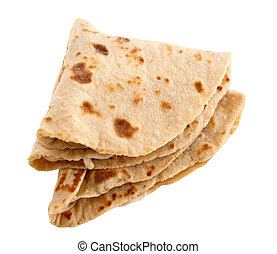 Chapati, chapathi, chapatti or flatbread, famous indian...