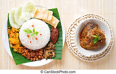 Nasi lemak hot and spicy - Nasi lemak is traditional...