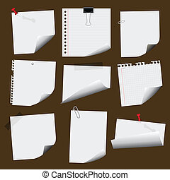 note papers