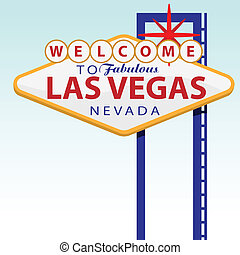 Las Vegas - vector illustration of the signboard of Las...