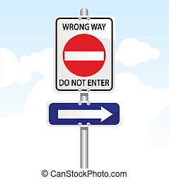 traffic sign - vector illustration of a traffic sign