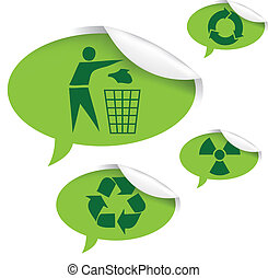 recycle sign - vector set of recycle signs