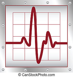 heartbeat - vector illustration of heartbeat on a cardiogram