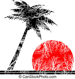 palm tree - vector illustration of a palm tree