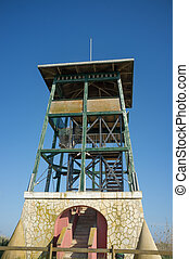 Watchtower meant for wildlife observation in a natural park