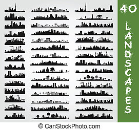 City landscape7 - Collection of city landscapes A vector...