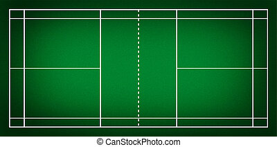 Badminton court - Illustration of badminton court