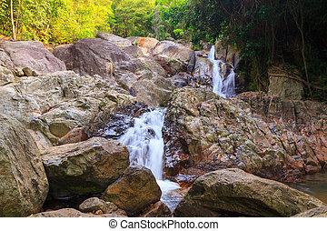 Small waterfall in Thailand, Na Muang