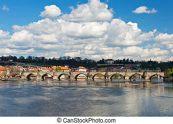 Charles Bridge - Famous Charles Bridge across the river...