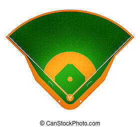 Baseball field - Illustration of Baseball field