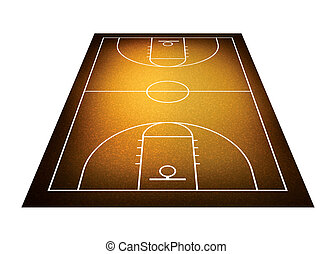 illustration of basketball court. - Illlustration of...