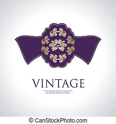 vintage label with special design