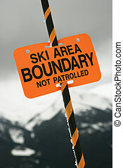 Ski area trail boundary sign.