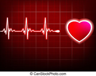 Heart beating monitor EPS 10 vector file included