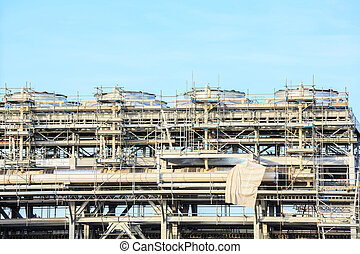 LNG Refinery plant - Assembling of liquefied natural gas...