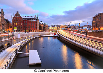 Highway to Stockholm Cityscape - Gamla Stan Highway to...