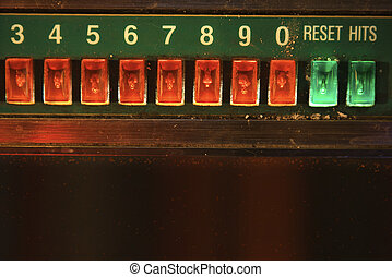 Jukebox play buttons.