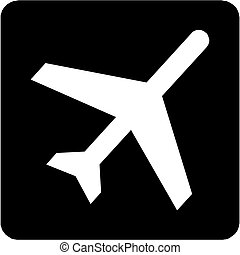 Airplane, Aircraft Icon