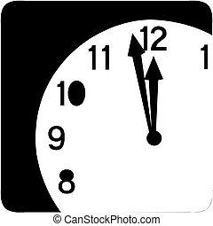 Clock face - Vector icon