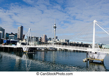 Wynyard Crossing - AUCKLAND - JUNE 02:Wynyard Crossing at...