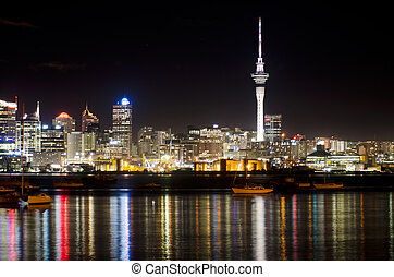 Auckland Skyline - AUCKLAND,NZ - MAY 30:Auckland Skyline at...