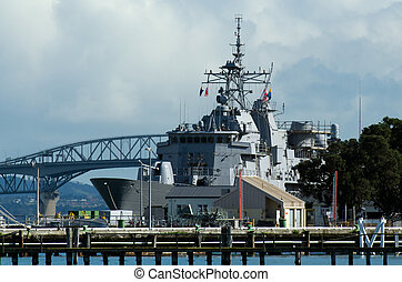 Devonport Naval Base - DEVON PORT, NZ - MAY 30: HMNZS Te...