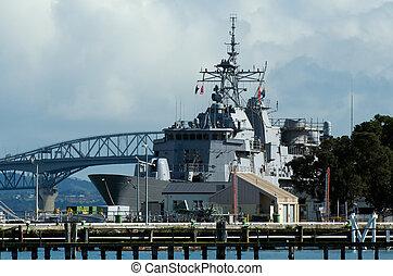 Devonport Naval Base - DEVON PORT, NZ - MAY 30: HMNZS Te...