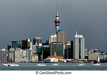 Auckland Skyline - AUCKLAND,NZ - MAY 30:Auckland Skyline on...