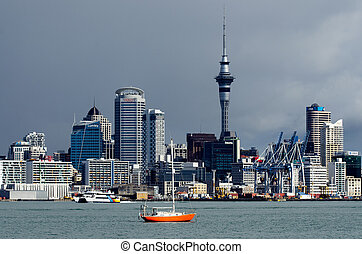 Auckland Skyline - AUCKLAND,NZ - MAY 30:Auckland Skyline on...