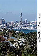 Auckland Skyline - AUCKLAND,NZ - MAY 27:Auckland Skyline on...