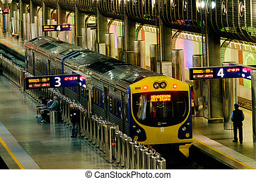 Britomart Transport Centre - AUCKLAND - MAY 26:MAXX train at...