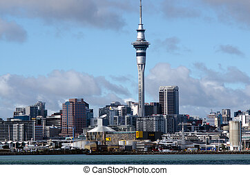 Auckland Skyline - AUCKLAND,NZ - MAY 26:Auckland CBD Skyline...