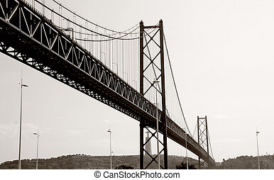 "famouse brige ""25th april"" in Lisbon - famouse brige ""25th..."