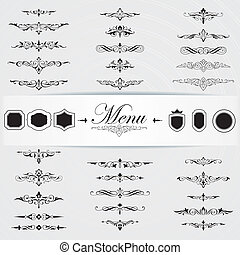 Calligraphy design elements page decoration - Vector set of...