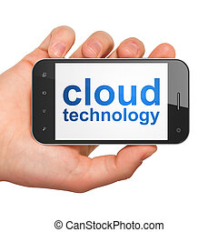 Networking concept: Cloud Technology on smartphone -...