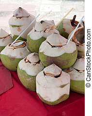 Coconut water drink - many of Coconut water drink