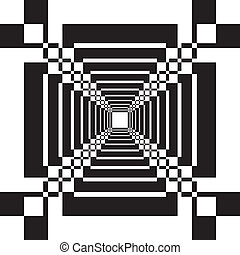 Abstract perspective tunnel stairs illusion background