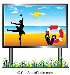 ballerina on the bilboard art vector