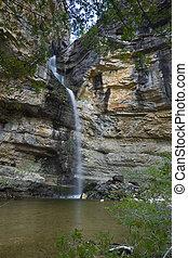 Gollorio Cascade, Guadalajara, Spain - Gollorio Cascade in...