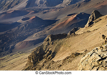 Dormant volcano Haleakala, Maui. - Craters of dormant...