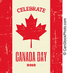 Canada Day Poster - Vintage greeting card design for Canada...