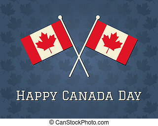 Happy Canada Day Card - Elegant greeting card design for...