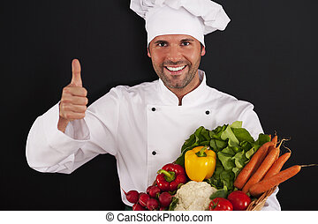 Fresh vegetables are very healthy for you