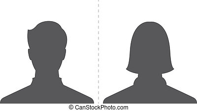 male and female profile picture
