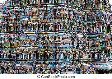 Indian temple detail - texture formed by the detail of...