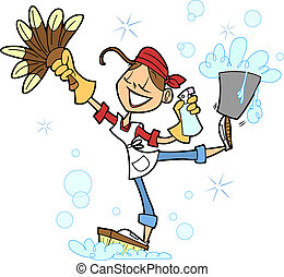 House Cleaner - This lovely lady is a pro at getting things...