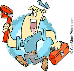 Plumber - This plumber is happy to do his job and to...