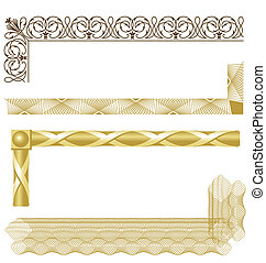 Borders 03 - Various intricate borders for certificates,...