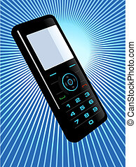 Cell phone - Graphic illustration of a cell phone